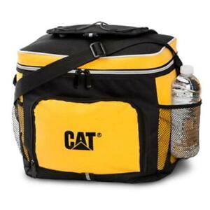 Caterpillar CAT Equipment Black & Yellow Lightweight Lunch Cooler Bag w/Strap