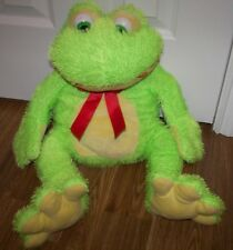 """Bright Green Stuffed Frog - 20"""" - Lucky Toys"""