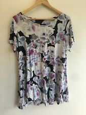 Womens Short Sleeve Crew Neck Floral Mix Top by M&S COLLECTION - Size 22