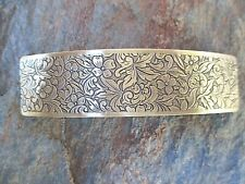 Antiqued Floral French Clip Hair Barrette 80MM  NEW Made in USA 6025B