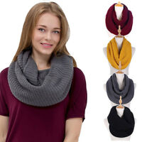 Men & Women Knit Infinity Loop Scarf Warm Thick Cowl Wrap Circle Winter Scarf US