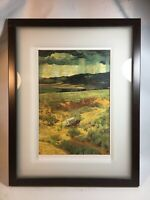 Walter Ufer Western Art Covered Wagon Pioneer 13x17 Framed Matted Glass Cowboy
