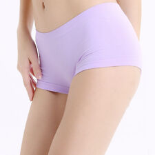 Women Sports Yoga Seamless Breathable Underwear Boxers Briefs Soft Panties US