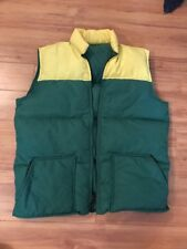 Vintage Retro  Men's Hansa-Branta by Stearns Goose Down Vest M Green Yellow