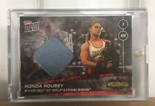 2018 Topps Now WWE Rhonda Rousey Wrestlemania 34 Matt Relic #/25 WWF XXXIV Rowdy