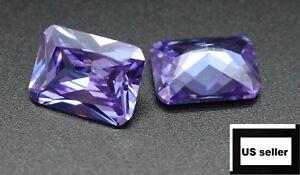 Unheated Dazzling Lavender Sapphire 10X14MM Diamond Emerald Loose Gemstone New