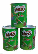 3 x NESTLE MILO CHOCOLATE MALT ENERGY DRINK 400G