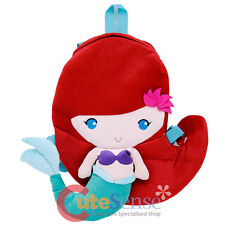 "Disney Princess Mermaid Ariel Plush Doll Backpack 18"" Flat Plush Costume Bag"