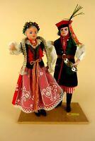 alte Trachtenpuppe Paar Mann und Frau 25 cm handmade in Czechoslovakia