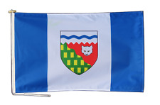 More details for northwest territories canada flag with rope and toggle - various sizes