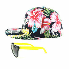 SET NY Snapback Cap Kinder Baseball CAP & Sonnenbrille NY hawaii yellow