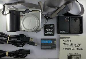 Canon PowerShot G6 7.1MP Digital Camera -  silver + 1 GB Memory Card
