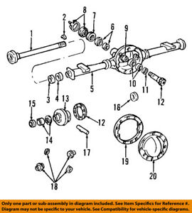 GM OEM Rear Differential-Pinion Yoke Companion Flange 12470387