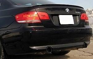 Rounded BMW E92 2 doors  2006-2013 M3 Style Boot Lip Wing Trim Spoiler Unpainted