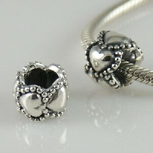 EVERLASTING LOVE Hearts - Solid 925 sterling silver European charm bead