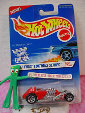 1997 #4 FE Hot Wheels SALTFLAT RACER #520 New ✰ red; silver M ✰First Editions