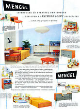 Raymond Lowey MENGEL ACCENT Mid-Century Modern GEORGE NELSON LAMP 1953 Print Ad