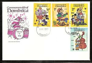 DOMINICA # 644-53 DISNEY YEAR OF THE CHILD FDC's