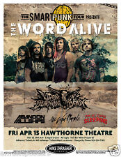 Word Alive 2011 Portland Concert Tour Poster- Metalcore