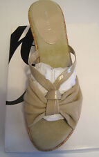 NEW NINE WEST WEDGE THONG SANDALS - NUDE - SIZE 8.5M - MSRP $39.99