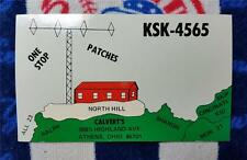 "HAM CB RADIO QSL Trading Card ""ONE STOP & PATCHES - CALVERT'S - ATHENS OHIO"""