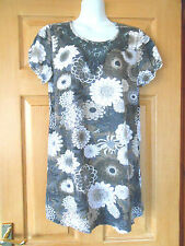Hip Length Cotton Blend Floral Tops & Shirts NEXT for Women