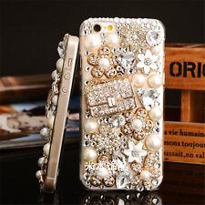 3D Glitter Luxury Bling Diamonds Crystal Soft Back TPU Case Cover Skin For Apple