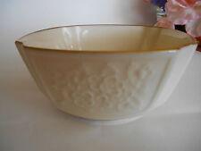 Vintage Candy Bowl Lenox 24 Kt Gold Trim Floral Embossed Design 4 3/4 In. Across