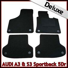 Audi A3 Mk2 Sportback 2003-2013 Tailored LUXURY 1300g Carpet Car Mats BLACK