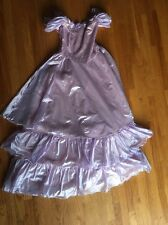 VIntage 80s Prom Party Dress Lavender Princess Size 9/10 Union Made Puffy Sleeve