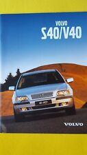 Volvo S40 V40 berline break brochure catalogue de vente 2000 Comme neuf S 40 V