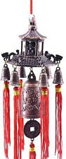 New listing Chinese Feng Shui Buddha with Pagoda Lucky Protection Brass Metal Bell Wind Chim