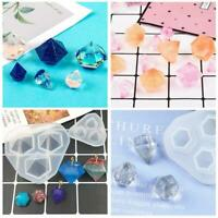 Mould Art Jewelry Making Molds Resin Pendant Craft Small Diamond DIY Silicone