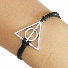 Harry Potter Deathly Hallows Bracelet Lucky Friendship Silver Plated Charm