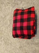 Sunbeam Heated Throw Buffalo Plaid Check Electric Blanket Red Safe Auto Off