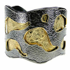 Sterling Silver Gold Plated Cuff Bracelet