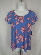Lularoe Classic T Top Shirt Size Large Stripe Stars Blue Red White New