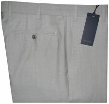 $395 NWT ZANELLA NORDSTROM DEVON PALE LIGHT GRAY BEIGE 120'S WOOL DRESS PANTS 35