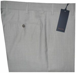 $395 NWT ZANELLA NORDSTROM DEVON PALE LIGHT GRAY BEIGE 120'S WOOL DRESS PANTS 34