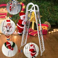 Electric Climbing Ladder Christmas Santa Claus Music Figurine Party Toy