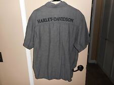 Men's Harley Davidson Custom Paint S/S Button Garage/Shop Shirt  XXL Mint