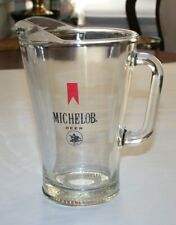 Michelob Beer 54 Ounce Glass Pitcher Vintage Anheuser-Busch Barware Heavy Duty
