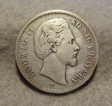 New listing 1895-D Bavaria 5 Mark Silver Ludwig Ii Bayern Funf Mark Deutsches Reich Km-896