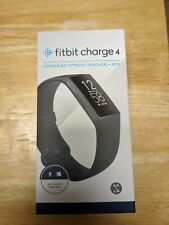 Fitbit Charge 4 Fitness Activity Tracker wt Built-in GPS, Heart Rate, Black, New