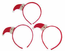 Santa Hat x 3 on headbands for Party Christmas, just for fun SALE