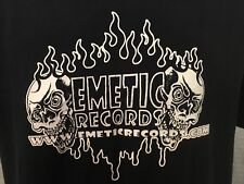 EMETIC RECORDS T-Shirt Large Black *RARE* Clutch Belzebong Cryptopsy Eyehategod