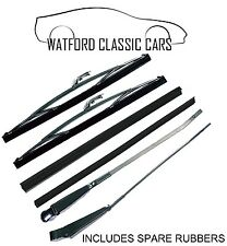 MGB Roadster ALL YEARS K-Star Stainless Steel / Chrome Wiper Arm & Blade Set