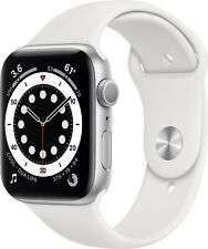 Apple Watch Series 6 (GPS) 40mm Silver Case with White Sport Band - Brand New