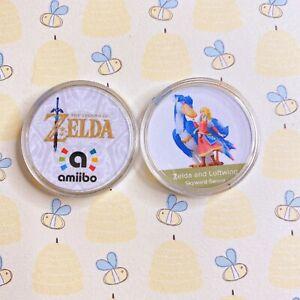 Zelda and Loftwing Amiibo NFC 30mm Coins. New Skyward Sword HD, Inkjet Printing