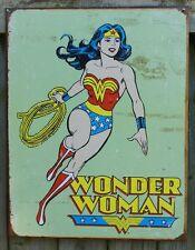 DC Comics Wonder Woman Tin Sign Super Hero Lasso Red Boots Amazing Amazon 22